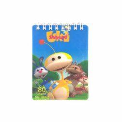 دفتر یادداشت ۸۰ برگ طرح دار سهند A6 کد۱۱۷۳۸D طرح uki