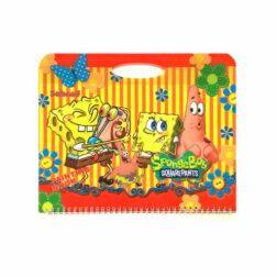 دفتر نقاشی کیفی طرح دار اکلیلی ۱۱۷۶۵D طرح باب اسفنجی رنگ زرد