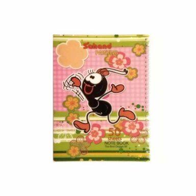 دفتر نقاشی طرح دار اکلیلی ۵۰ برگ ۱۱۷۰۵P مورچه دونده رنگ صورتی 1 رادک