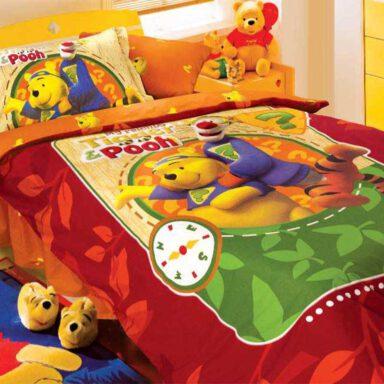 ست لحاف ۳ تکه نوجوان پرکا طرح پو Pooh پانو رانفرس 1 رادک