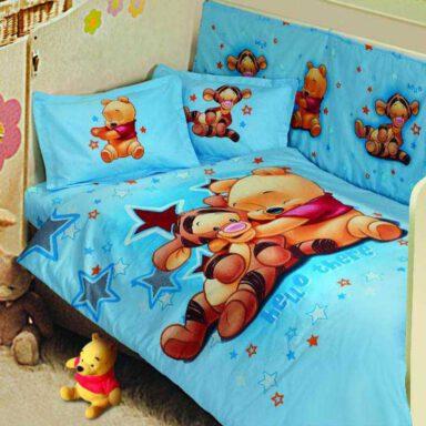 ست لحاف نوزاد پرکا طرح پو Pooh پانو رانفرس ۶ تکه 1 رادک