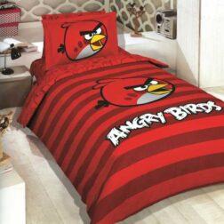 ست کیسه لحاف ۳ تکه نوجوان طرح پرندگان خشمگین Angry Birds پانو رانفرس