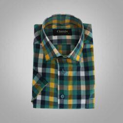 پیراهن آستین کوتاه مردانه پنبه ای کلاسیک