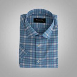 پیراهن آستین کوتاه پنبه ای مردانه کلاسیک