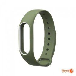 بند گام شمار هوشمند شيائومي مدل Mi Band2 strap 2W رنگ سبز ارتشی