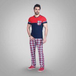 ست تی شرت و شلوار پنبه ای مردانه رویین تن پوش مدل آراز