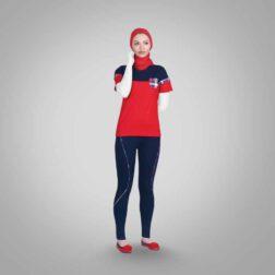 ست تی شرت و شلوار پنبه ای زنانه رویین تن پوش مدل ساینا