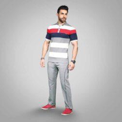 ست تی شرت و شلوار پنبه ای مردانه رویین تن پوش مدل سپند