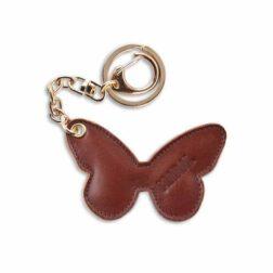 جاکلیدی مارال چرم طرح پروانه رنگ قهوه ای روشن