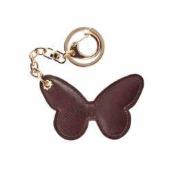 جاکلیدی مارال چرم طرح پروانه رنگ قهوه ای سوخته