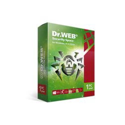 نرم افزار آنتی ویروس دکتر وب نسخه خانگی (یکساله) تک کاربره – Dr.Web Security Space for windows, Mac os X, Linuxاورجینال