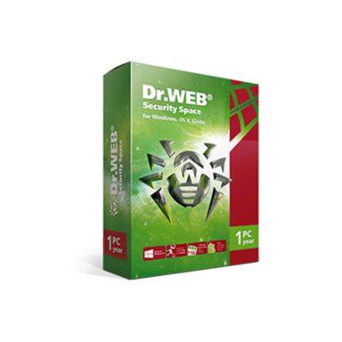 نرم افزار آنتی ویروس دکتر وب نسخه خانگی (یکساله) تک کاربره - Dr.Web Security Space for windows, Mac os X, Linuxاورجینال 1 رادک