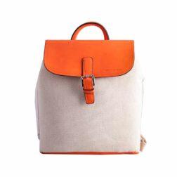 کوله پشتی زنانه دیوید جونز DAVID JONES مدل 2-5033 رنگ نارنجی