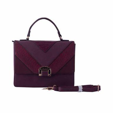 کیف دستی زنانه دیوید جونز David Jones مدل 1-5289 رنگ زرشکی 1 رادک
