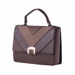 کیف دستی زنانه دیوید جونز David Jones مدل 1-5289 رنگ قهوه ای