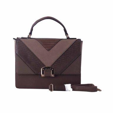 کیف دستی زنانه دیوید جونز David Jones مدل 1-5289 رنگ قهوه ای 1 رادک