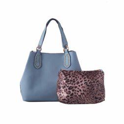 کیف دستی زنانه دیوید جونز David Jones مدل 3403 رنگ آبی 2 رادک