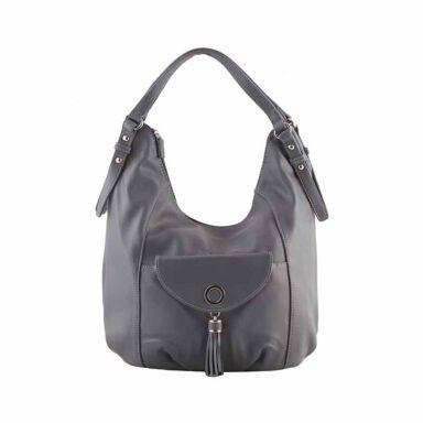 کیف دستی زنانه دیوید جونز David Jones مدل 5-5637 رنگ خاکستری 1 رادک