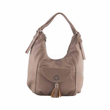 کیف دستی زنانه دیوید جونز David Jones مدل 5-5637 رنگ خاکی 1 رادک