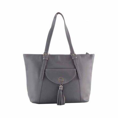 کیف دستی زنانه دیوید جونز David Jones مدل 6-5637 رنگ خاکستری 1 رادک