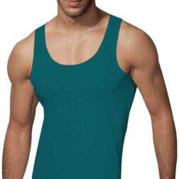 رکابی یقه هلالی مردانه رویین تن پوش رنگ کله غازی