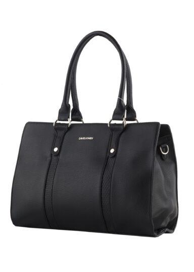 کیف دستی زنانه دیوید جونز David Jones مدل 2-5625 رنگ مشکی خاکستری 1 رادک