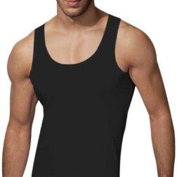 رکابی یقه هلالی مردانه رویین تن پوش رنگ مشکی