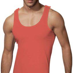 رکابی یقه هلالی مردانه رویین تن پوش رنگ گلبه ای