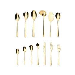 سرویس  قاشق و چنگال ۱۱۶ پارچه ناب استیل مدل فلورانس طلایی