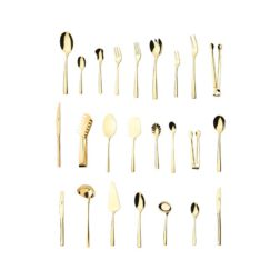سرویس قاشق و چنگال ۱۵۸ پارچه ناب استیل مدل فلورانس طلایی