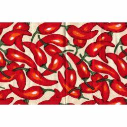دستمال سفره چاپی رزين تاژ طرح فلفل قرمز (Red Pepper)