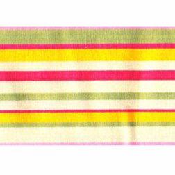 دستمال سفره کتان رزين تاژ طرح اسپرید صورتی (Pink Sprid)
