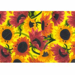 دستمال سفره چاپی رزين تاژ طرح آفتابگردان (Sunflower)