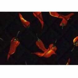 دستمال سفره چاپی رزين تاژ طرح فلفل سیاه (Black Pepper)