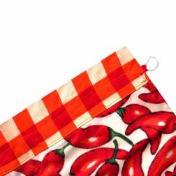 کیسه سبزی چاپی رزین تاژ طرح فلفل قرمز