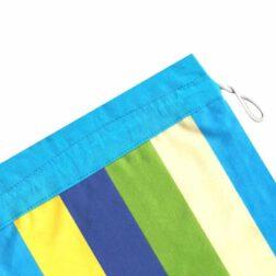 کیسه سبزی کتان رزین تاژ طرح رابید آبی