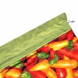 کیسه سبزی چاپی رزين تاژ طرح هویج