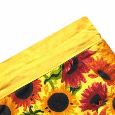 کیسه سبزی چاپی رزین تاژ طرح آفتابگردان 1 رادک