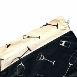 کیسه سبزی چاپی رزین تاژ طرح گلس