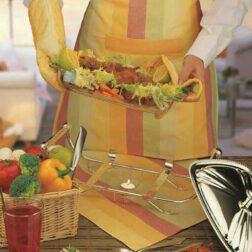 کیسه سبزی کتان رزین تاژ طرح رابید صورتی