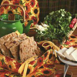 کیسه سبزی چاپی رزین تاژ طرح آفتابگردان