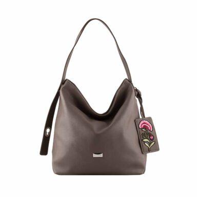 کیف دستی زنانه دیوید جونز David Jones مدل cm3630 رنگ خاکی 1 رادک