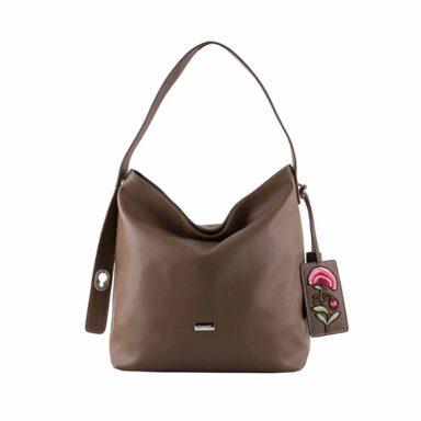 کیف دستی زنانه دیوید جونز David Jones مدل cm3630 رنگ شتری 1 رادک