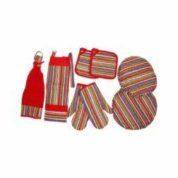 rezin-taj-8-pieces-multicolor-stripedenim-kitchen-set