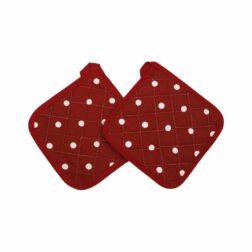 سرویس کتان ۸ تکه رزین تاژ مدل خالدار قرمز