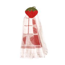 دستمال آویز آشپزخانه توراندخت طرح توت فرنگی