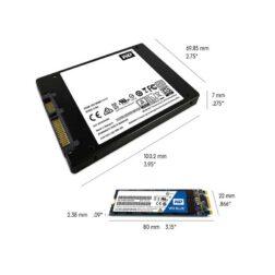 حافظه SSD وسترن دیجیتال مدل BLUE WDS500G2B0B ظرفیت 500 گیگابایت