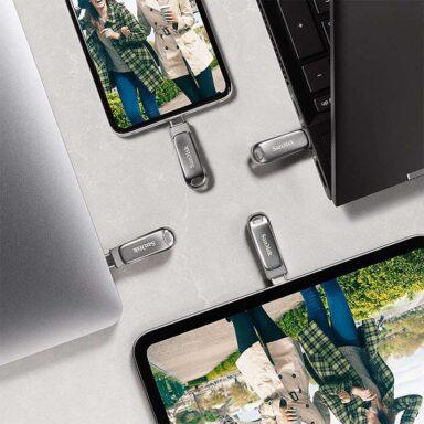 فلش مموری سن دیسک مدل Ultra Dual Drive Luxe USB Type-C ظرفیت 32 گیگابایت 6 رادک