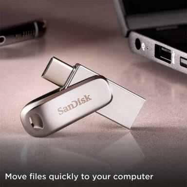فلش مموری سن دیسک مدل Ultra Dual Drive Luxe USB Type-C ظرفیت 32 گیگابایت 5 رادک